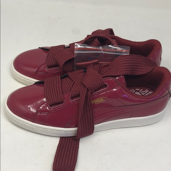 new style 187c3 01936 Women's Puma Basket Heart Patent Red 10a15box4